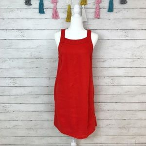 Anthropologie Maeve Side Button Corduroy Dress